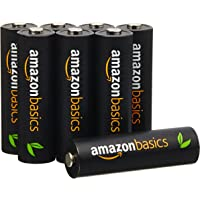 AmazonBasics 亚马逊倍思 8节五号高容量镍氢预充电可充电电池,可循环使用 500次(进口直采;日本制;标准值:2500 mAh,最小值:2400 mAh)