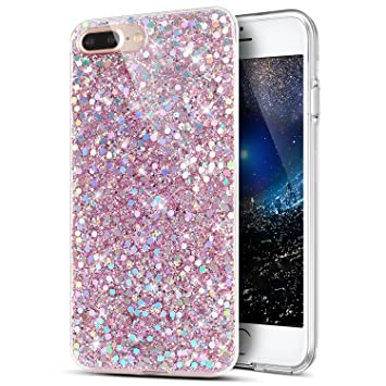 coque iphone 8 paillette silicone