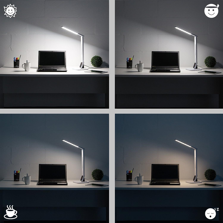 Levivo Lampada LED da Scrivania con 4 Gradi di Luminosit/à Nero