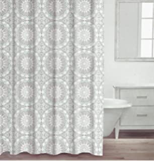 Curtains Ideas coral reef shower curtain : Amazon.com: Nicole Miller Home Fabric Shower Curtain (Coral Reef ...