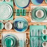 Zak Designs 6766-1571 Batik Melamine Plates, 11