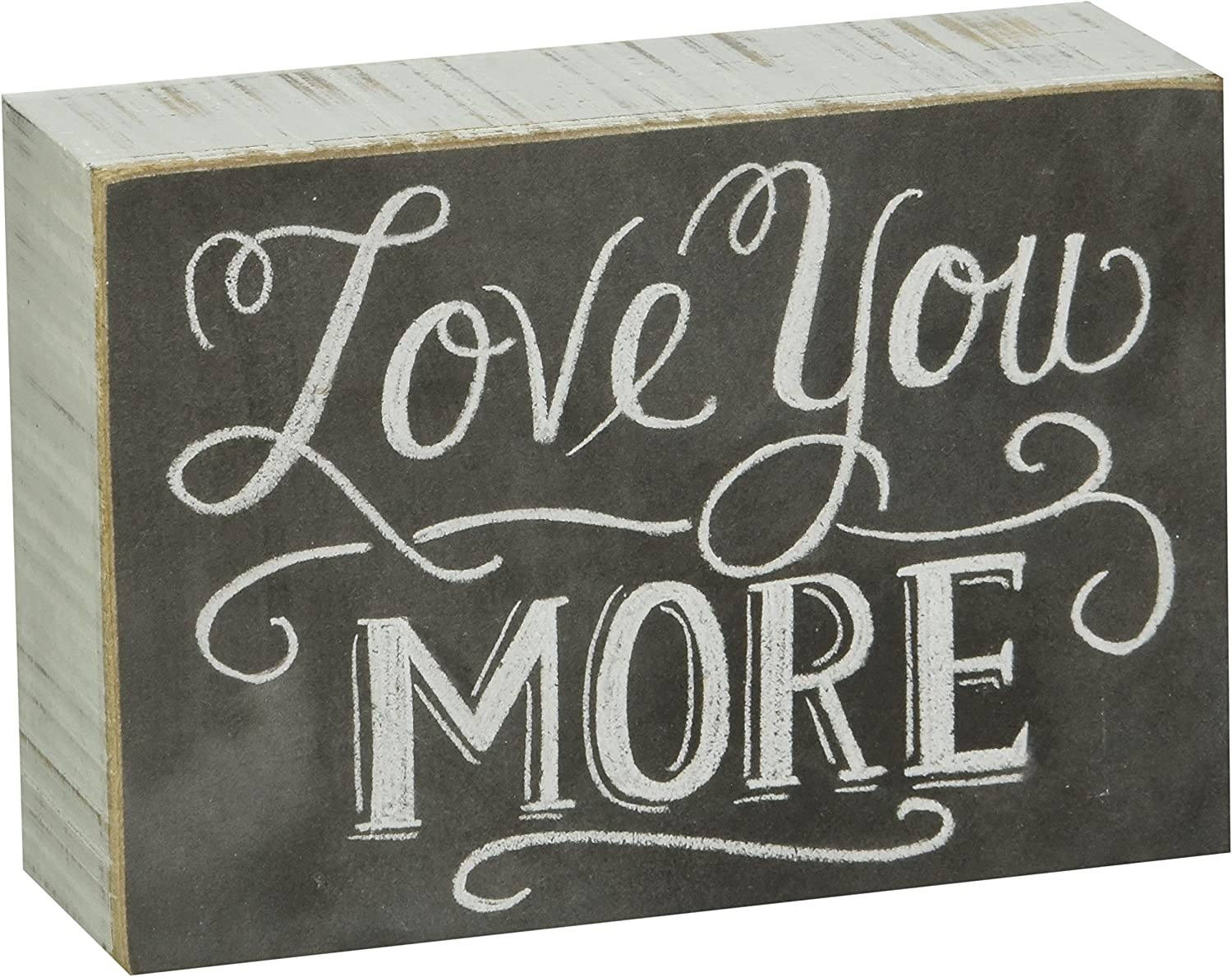 "Primitives by Kathy 22283 Chalk Box Sign, 5"" x 3.5"", Love You More"