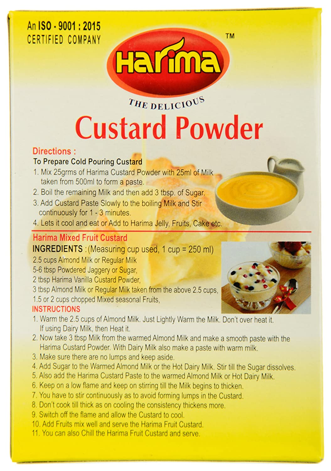 Shelf life of the custard. How much can you store the custard
