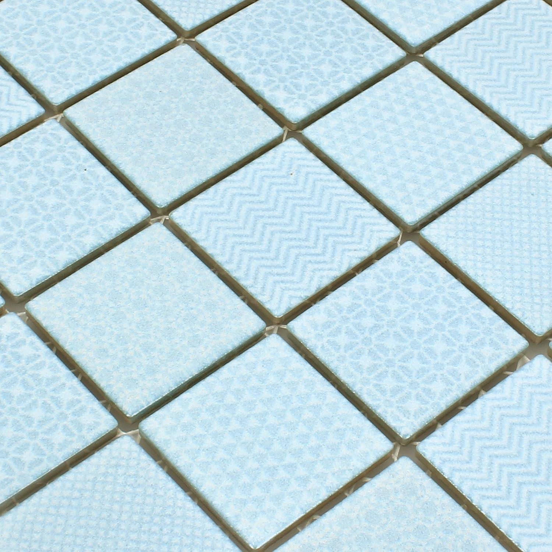 auch als Muster erh/ältlich Wandfliesen die K/üche und das Badezimmer Boden-Fleisen Mosaikfliesen Keramik Sapporo Hellblau Ocean Fliesen-Bord/üre Mosaik-Fliesen Ideal f/ür den Wohnbereich