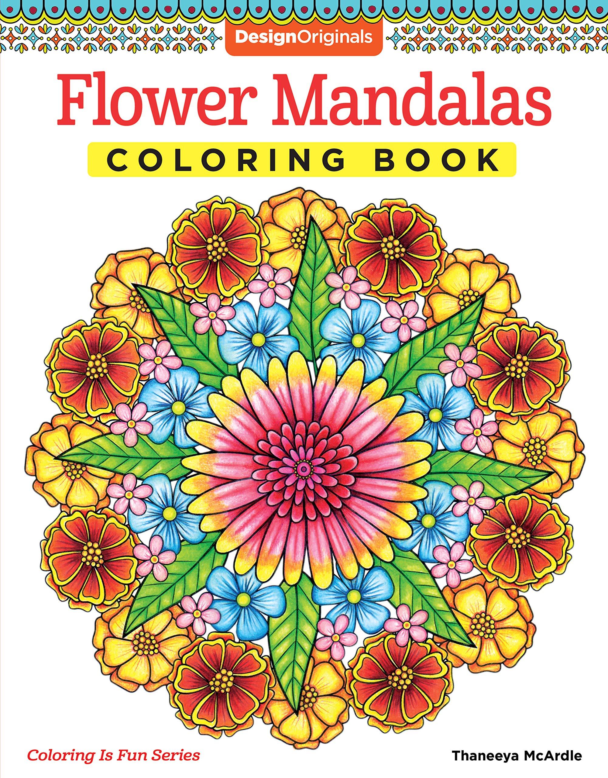 Amazon.com Flower Mandalas Coloring Book Design Originals 18 ...