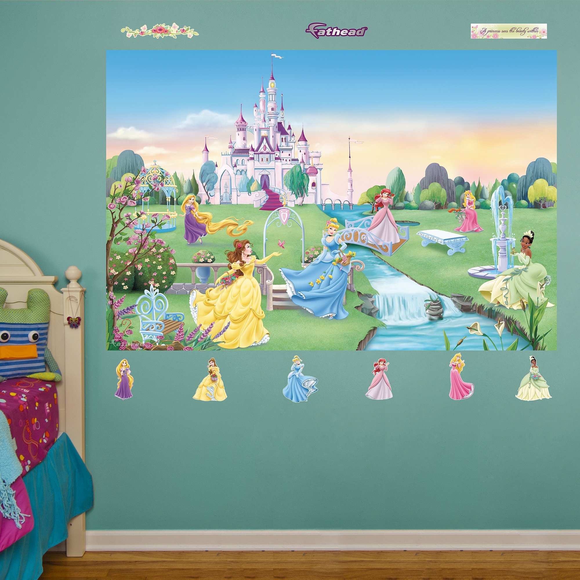 FATHEAD Disney Princess: Mural-Huge Officially Licensed Removable Graphic Wall Decal by FATHEAD