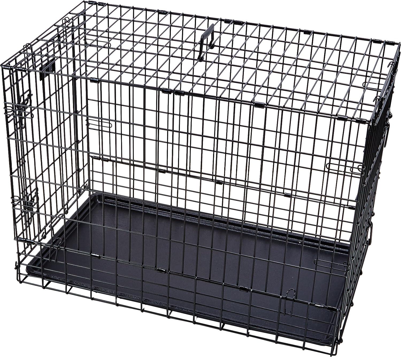 Amazon.com : Solution Series Double Door Folding Metal Dog Crate for ...