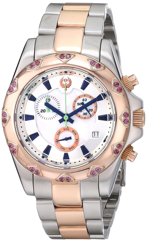 Brillier Damen 14–04 Analog Display Swiss Quarz Zweifarbige Armbanduhr