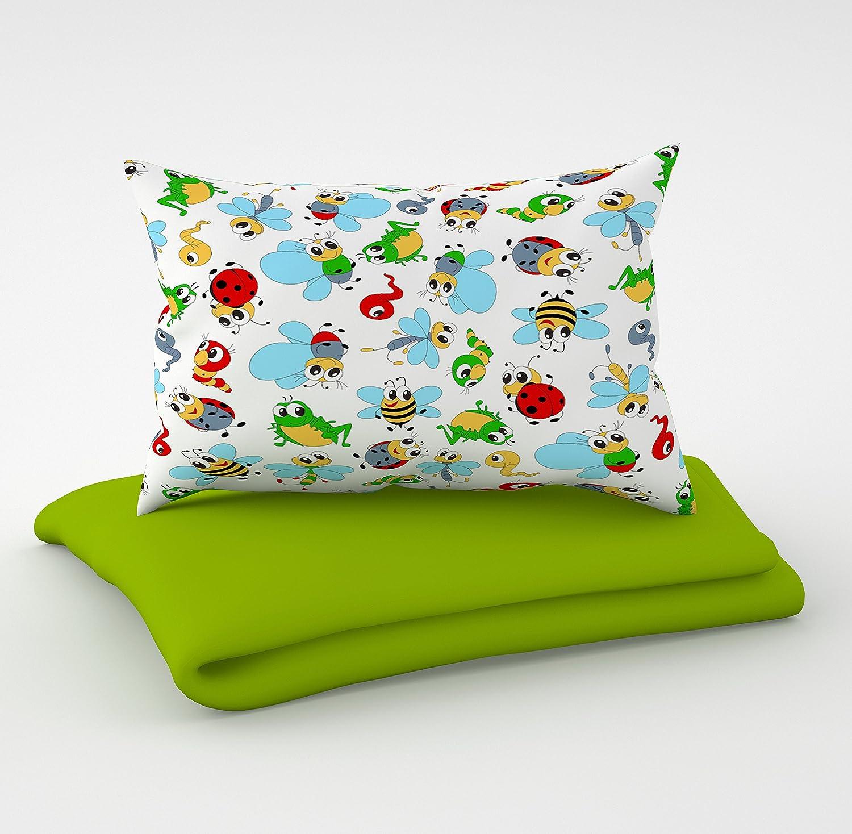 biancheria per lettino 90 x 120 cm con lenzuolo con angoli e paracolpi 6 cuscini in velluto federe per il lettino 60 x 120 cm. Set 3 pezzi