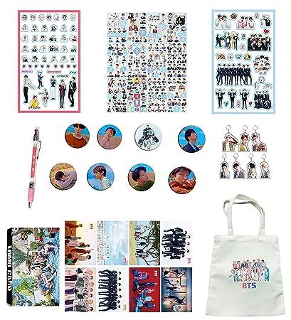 BTS Gifts Set for Army Bangtan Boys BTS Collectibles, BTS Pin, BTS Poster,  BTS Sticker, etc (4)