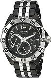Armitron Men's 20/4664BKTB Multi-Function Silver-Tone and Black Bracelet Watch