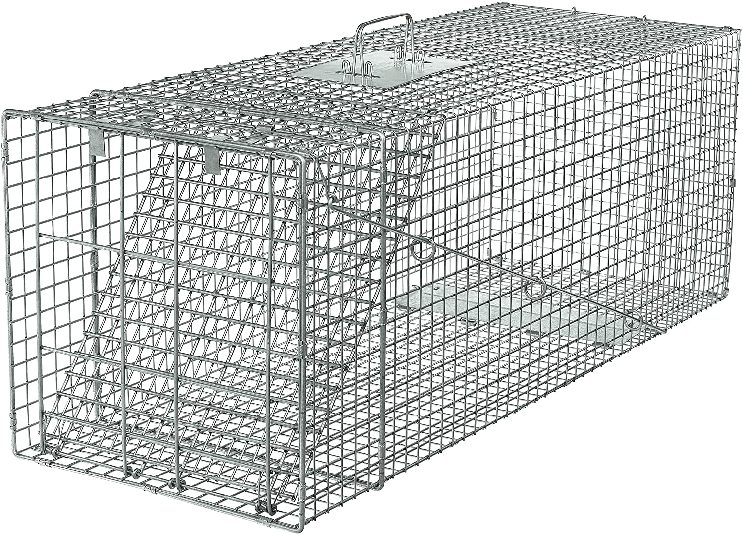 Havahart 1081 Live Animal Professional Style One-Door Large Raccoon, Small Dogs, and Fox Cage Trap-Made in the USA 91t39HILmrLSL1500_