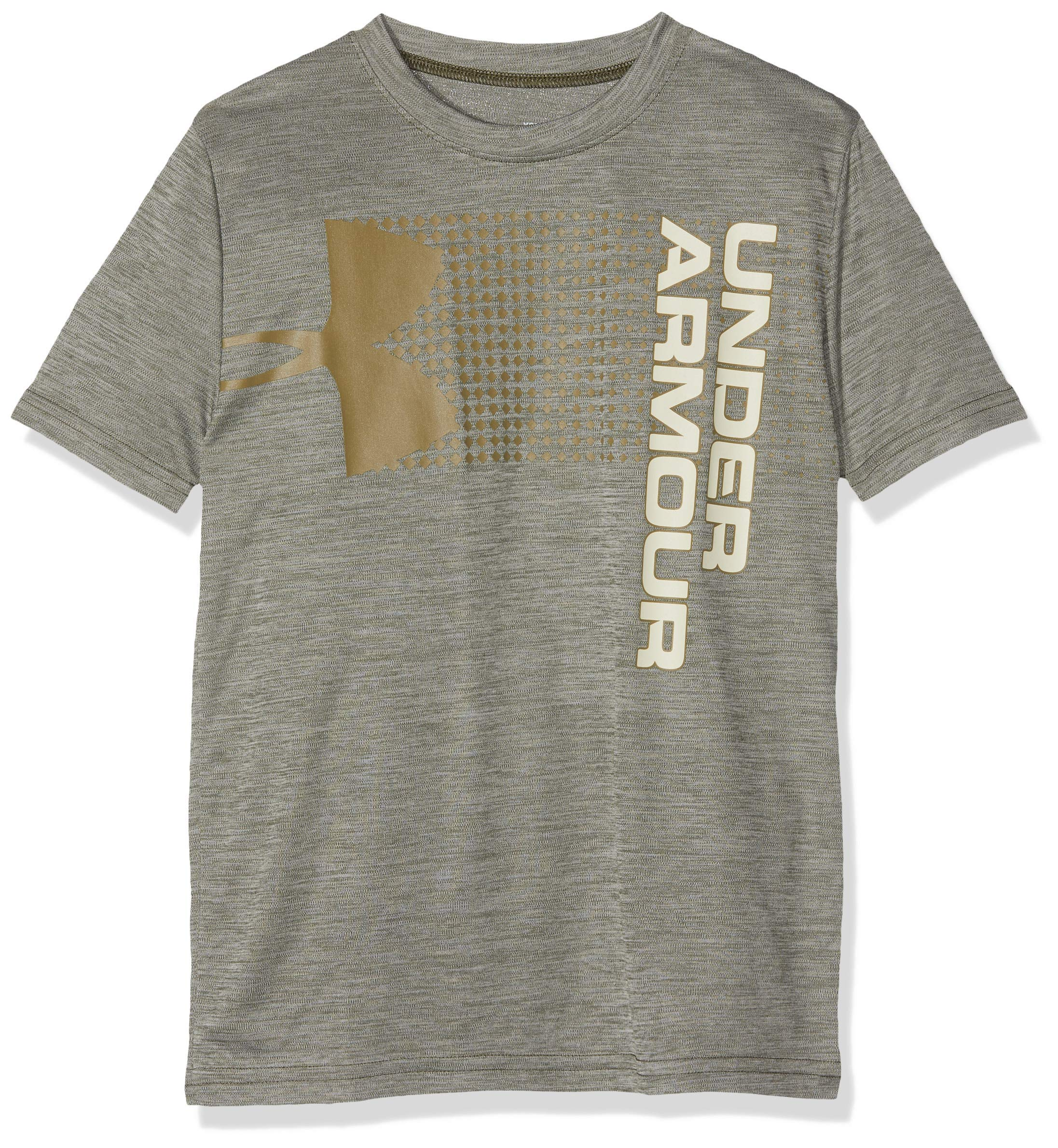 Under Armour Boys' Crossfade T-Shirt, Guardian Green (315)/Outpost Green, Youth Medium by Under Armour