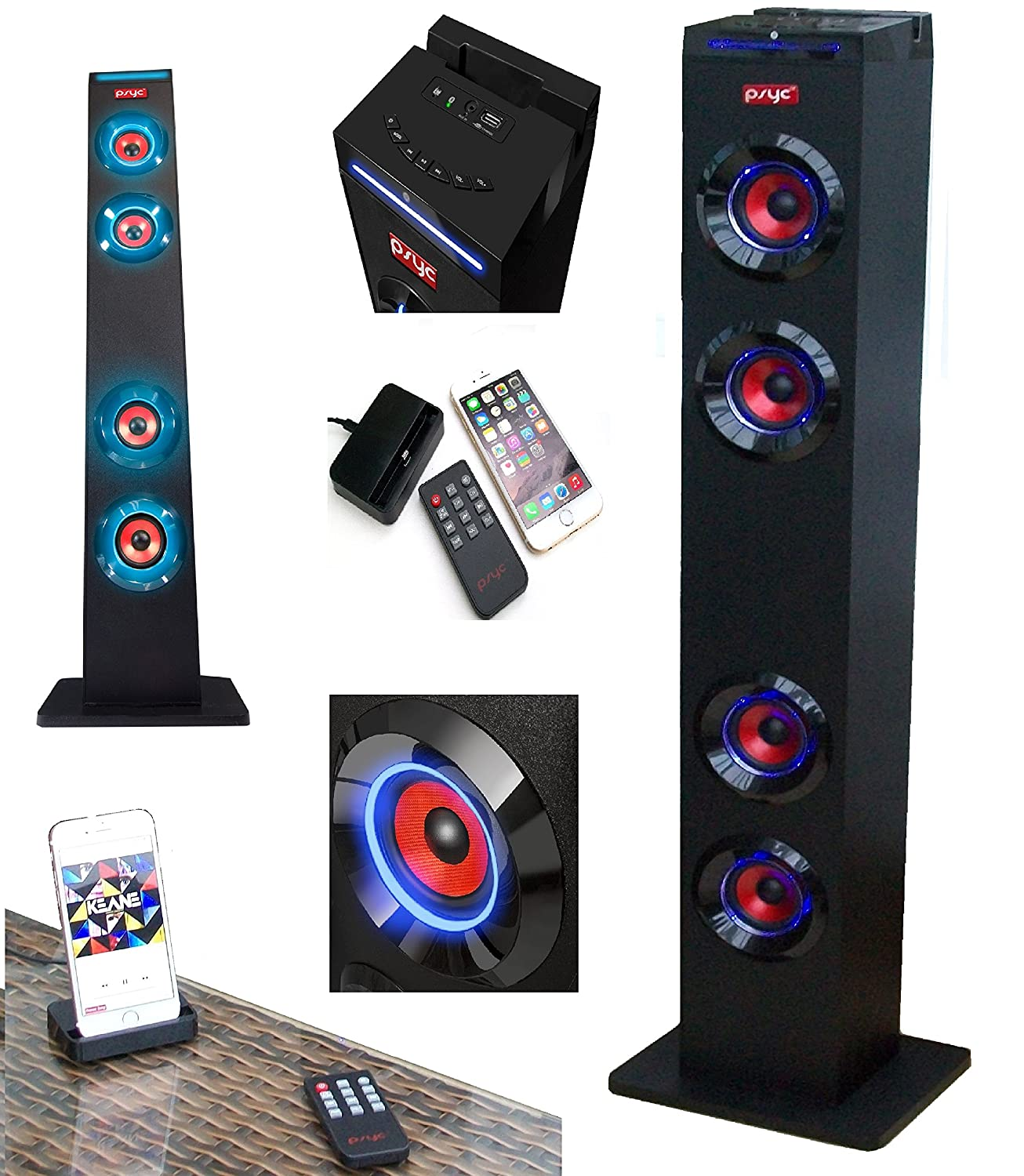 Torre XL Bluetooth Speaker Station Tower Supplied With Amazoncouk Electronics