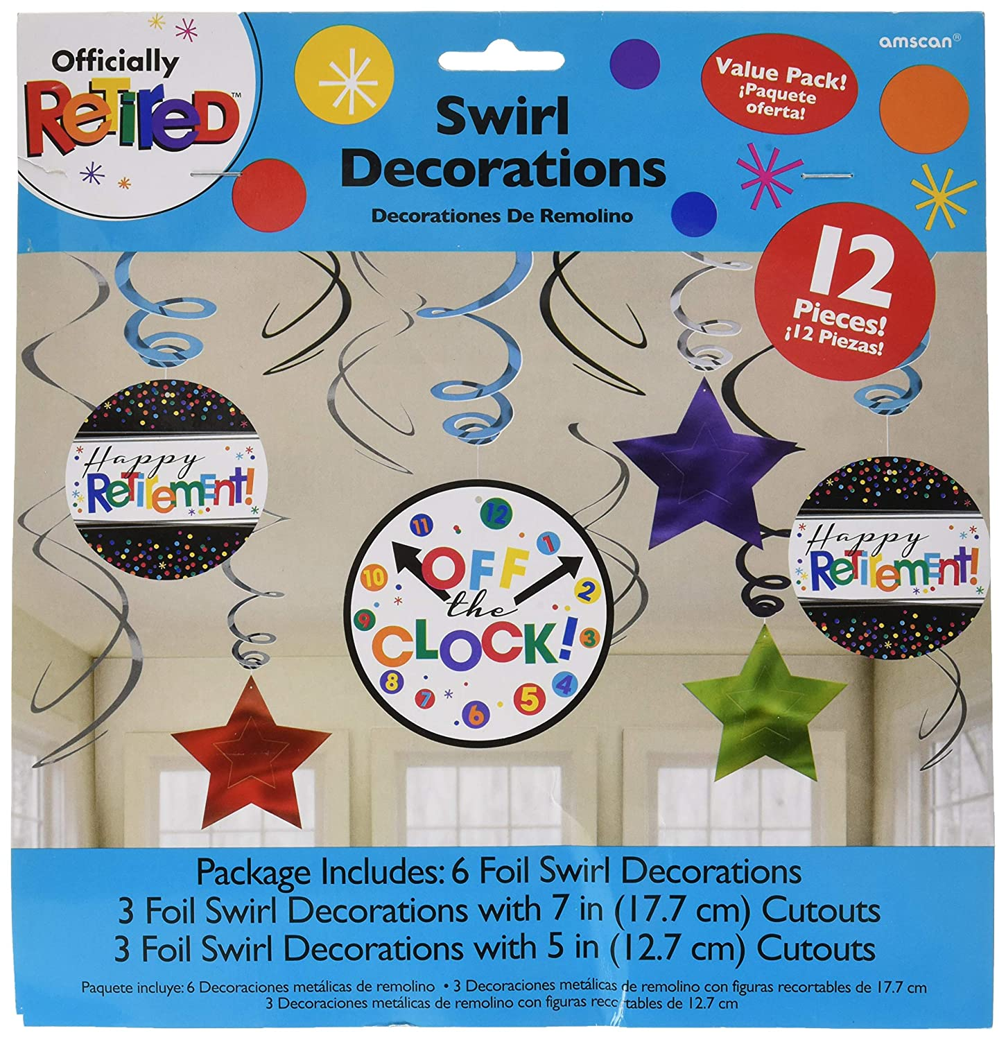 Assorted Sizes Retirement Party Foil Swirl Decorating Kit