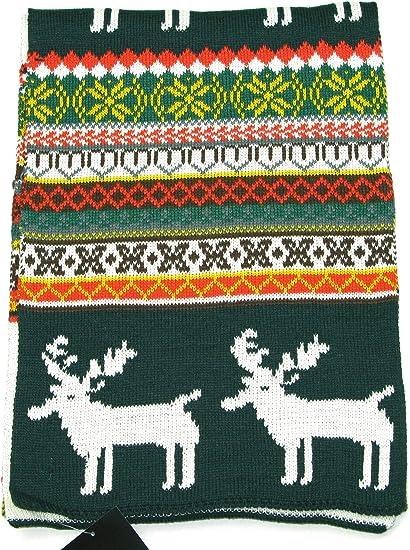 Bufanda tem/ática de navidad renos LOVARZI Bufanda tejida de invierno para hombre y mujer
