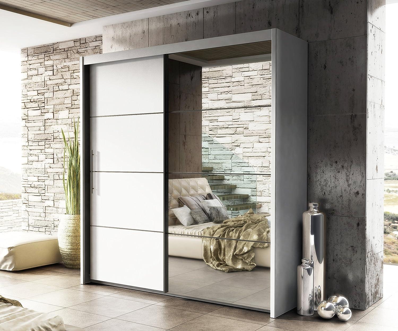 Laura espejo para puerta corredera armario 201 mm), diseño con efecto de madera de roble madera hogar muebles de dormitorio: Amazon.es: Hogar