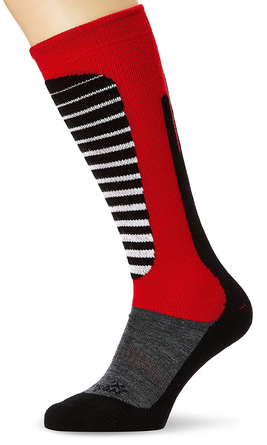 Rywan Mi-bas Rywarm Chaussettes Anthracite/Rouge FR