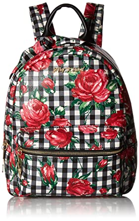 d209b39854 Amazon.com  Betsey Johnson Gingham Bow Backpack