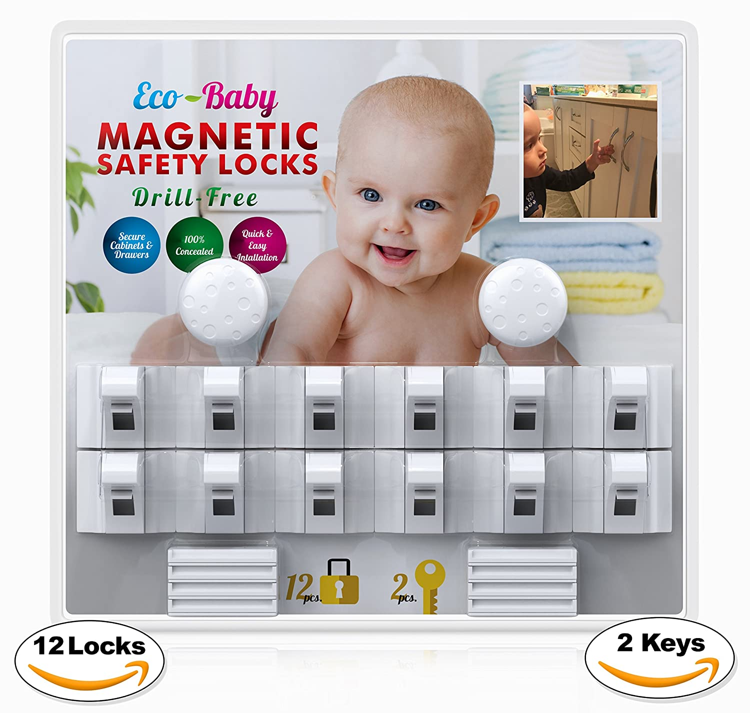 Baby Safety Child Proof Home Kitchen Cabinet Door Latch