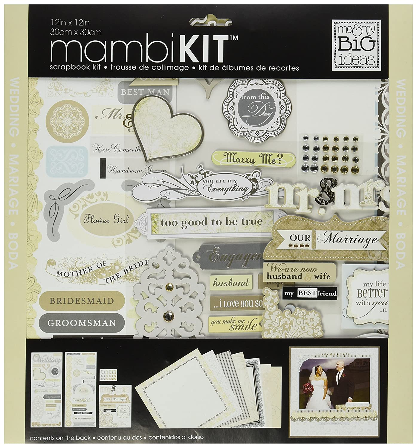 me & my BIG ideas Scrapbook Page Kit, Forever Our Marriage, 12-Inch by 12-Inch Me and My Big Ideas SRK-55