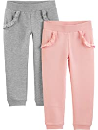 Simple Joys by Carter's Toddler Girls' 2-Pack Pull on Fleece Pants