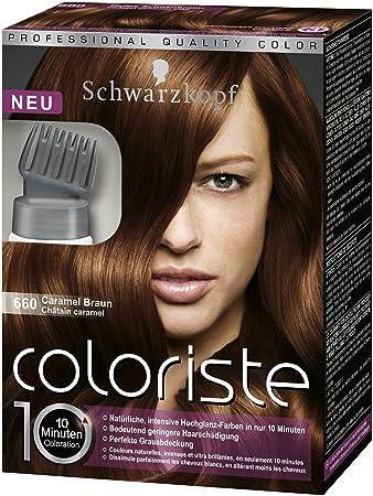 Schwarzkopf Coloriste Hochglanz Haarfarbe Caramel Braun Amazon De