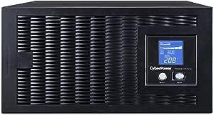 CyberPower PR5000LCDRTXL5U Smart App Sinewave UPS System, 5000VA/4000W, 5 Outlets, AVR, 5U Rack/Tower,Black
