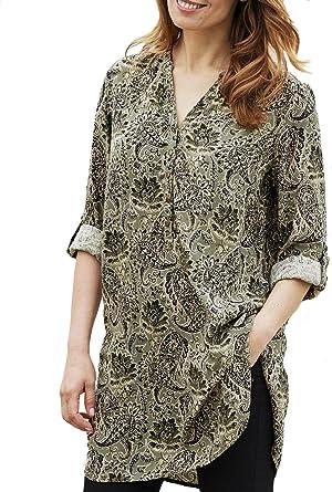 TopsandDresses - Blusa de cachemira para mujer (longitud más larga), color rojo canela o verde oliva, tallas 34 – 52): Amazon.es: Ropa y accesorios