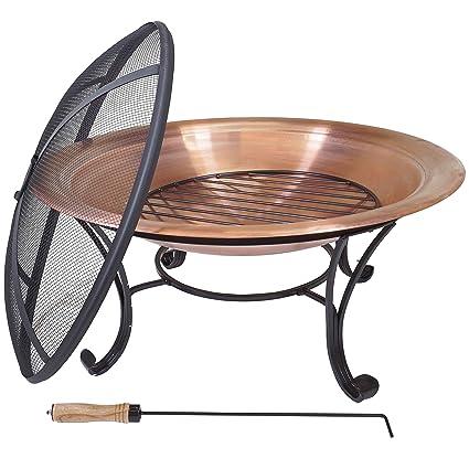 Titan 29u201d LW Copper Outdoor Fire Pit Table Bowl Backyard Firepit 29 Diameter