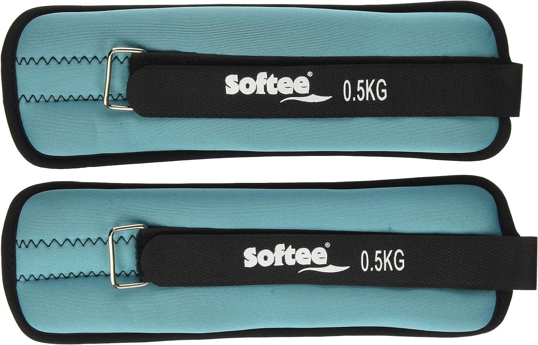 Softee Equipment Tobilleras Muñequeras Lastradas 2x0,5 Kg