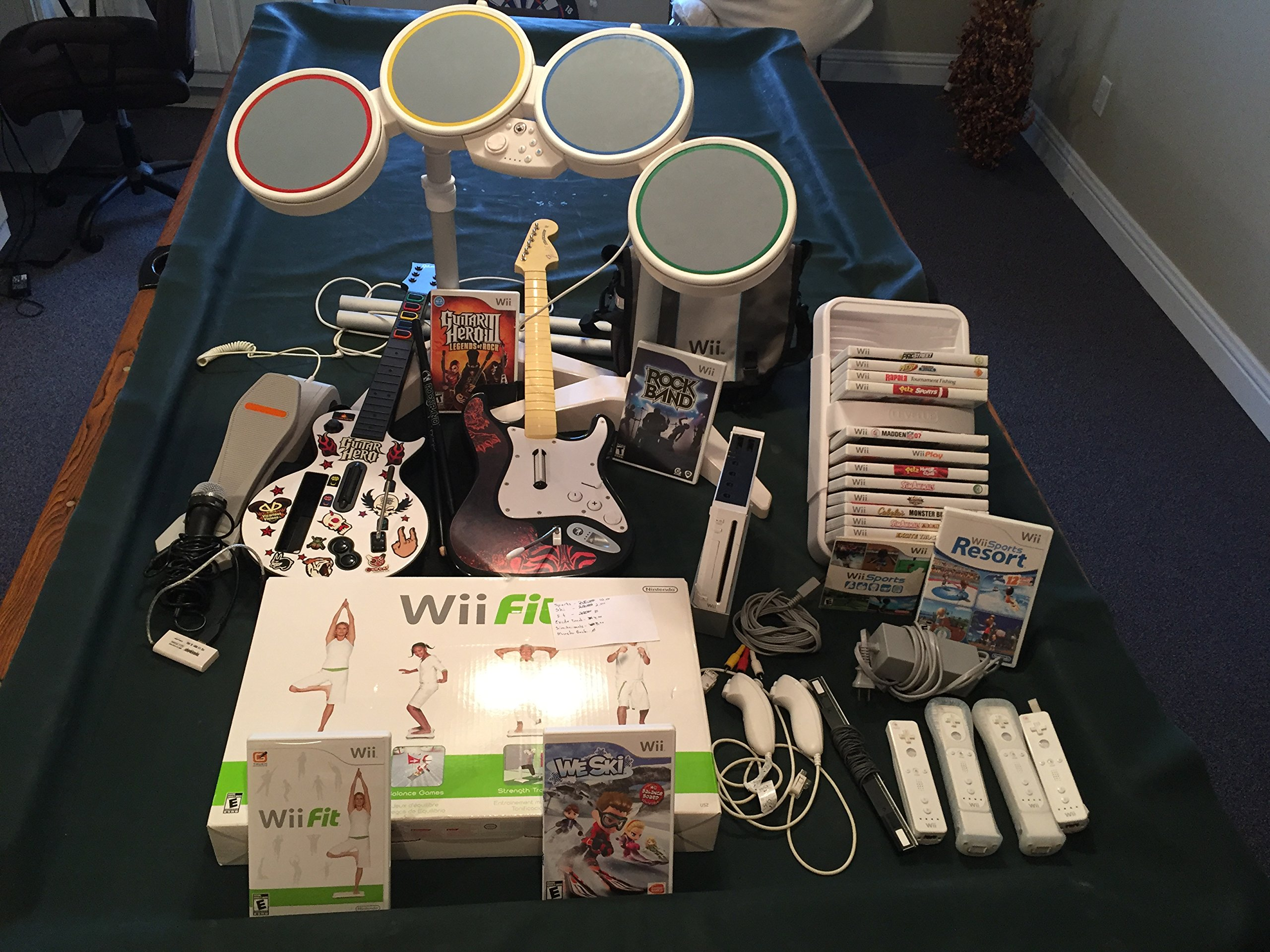 Amazon com: Nintendo Wii ROCK BAND 3 Game Set with Wireless Guitar