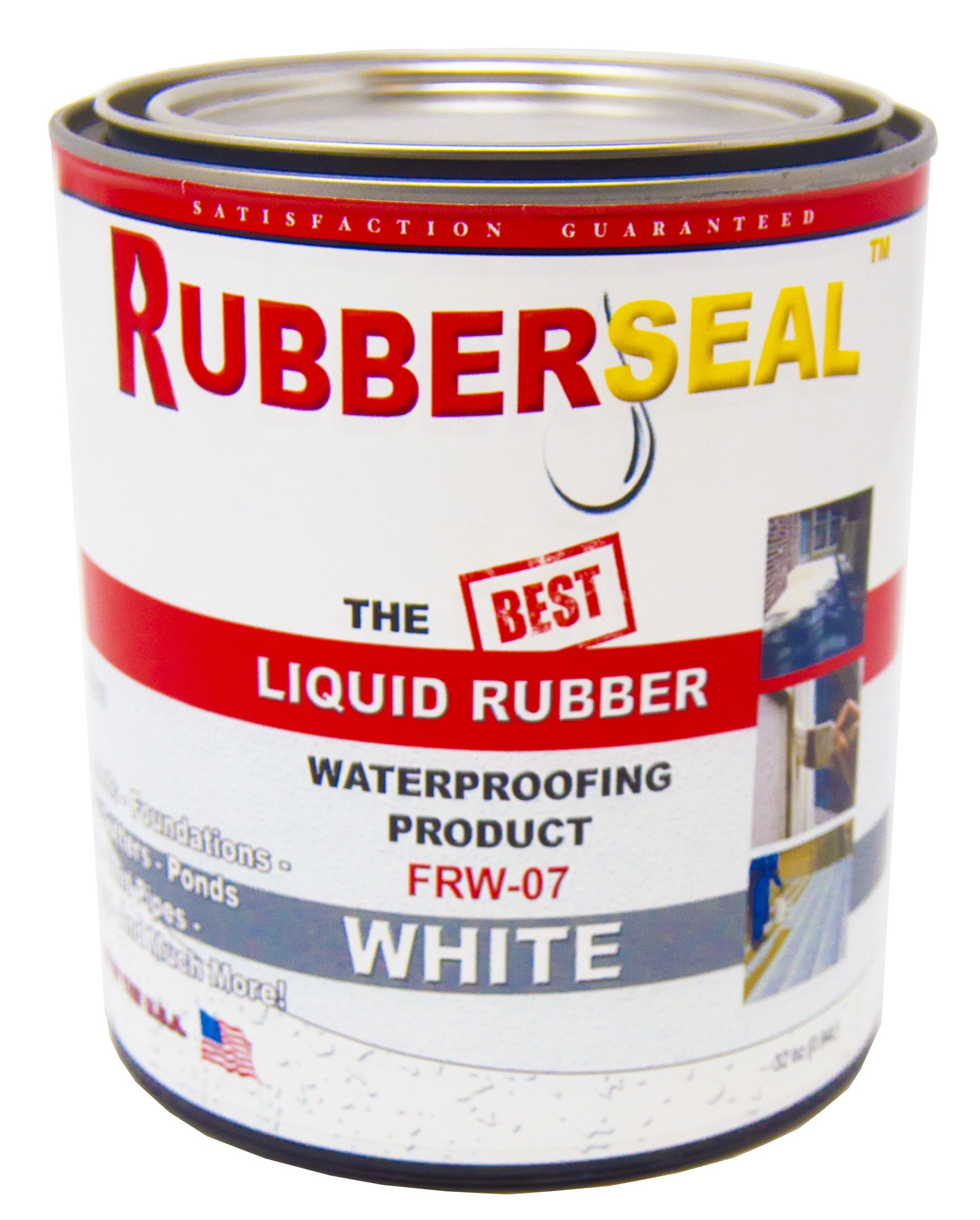Rubberseal Liquid Rubber Waterproofing and Protective Coating -- Roll On WHITE (32 ounces)