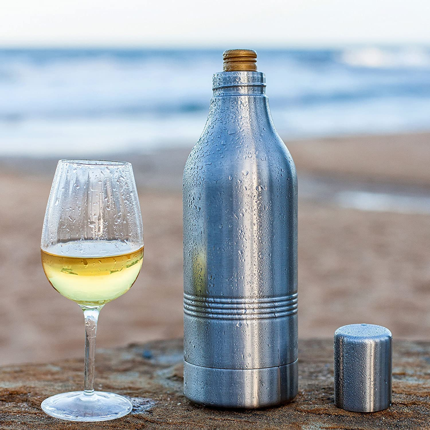 Amazon.com: BarCooler Stainless Steel Wine Bottle Holder Double Wall ...