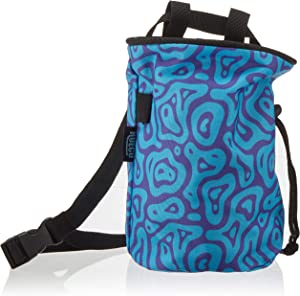 Hueco Chalk Bag with Belt and Zipper Smartphone Pocket for Rock Climbing, Bouldering, Gymnastics, Fitness, Cross Fit and Weightlifting