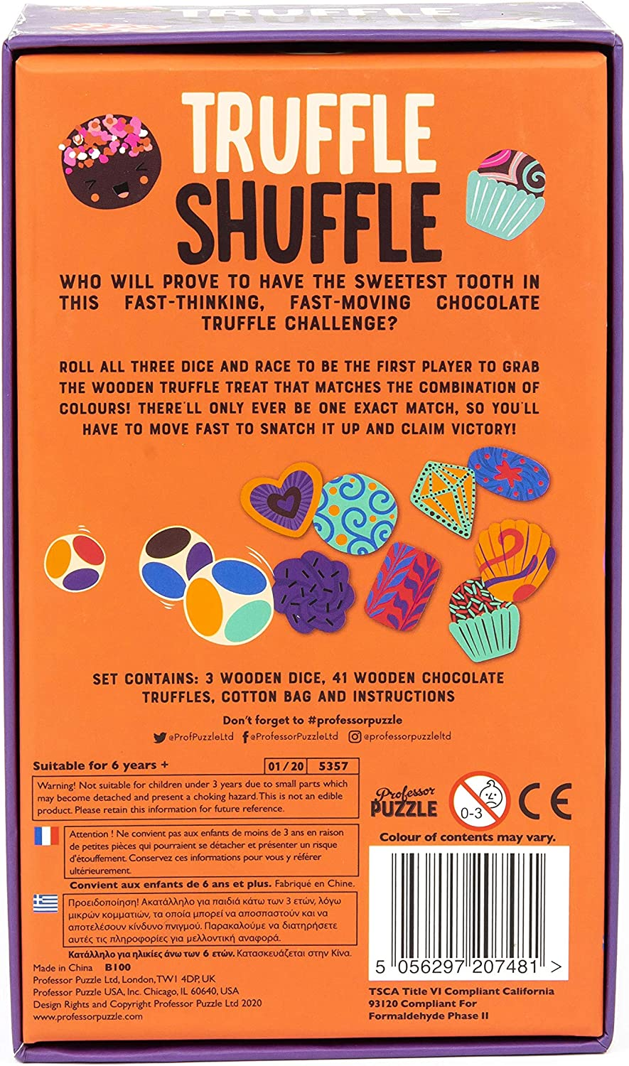 Fast-Thinking /& Fast-Moving Party Game by Professor Puzzle. Truffle Shuffle