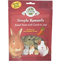 New Oxbow Simple Rewards All Natural Oven Baked Treats with Carrots, Dill and Timothy Hay