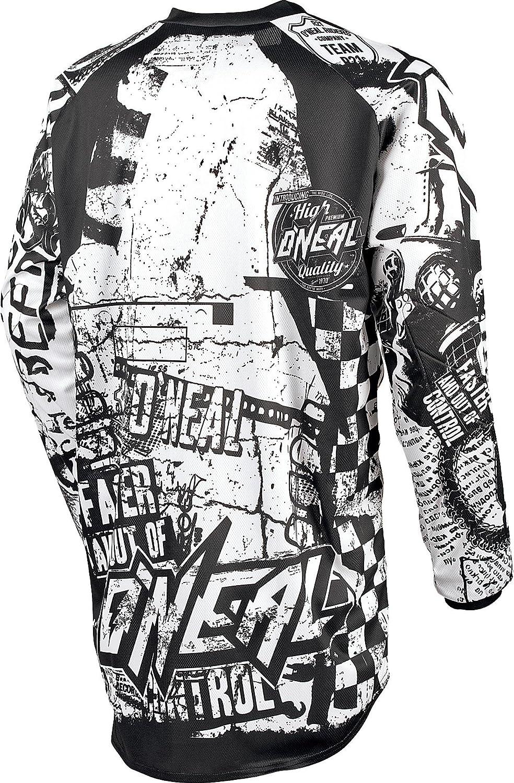 0024/W de 8 ONeal Element Jersey Wild RACEWEAR Noir Blanc Motocross Enduro MX VTT DH FR Maillot VTT