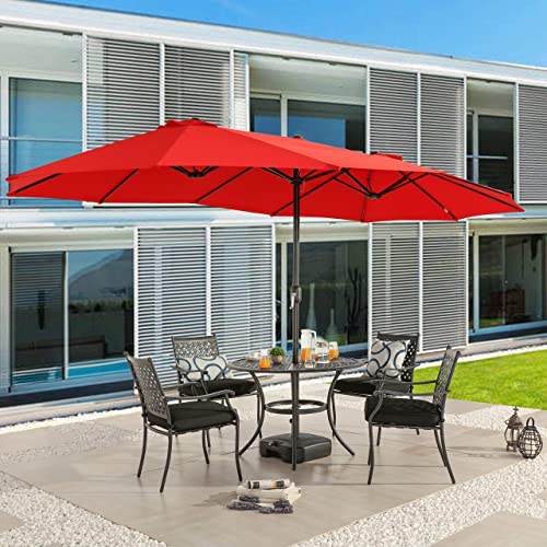 Romayard 15Ft Patio Umbrella Outdoor Garden Table Double Side Umbrella