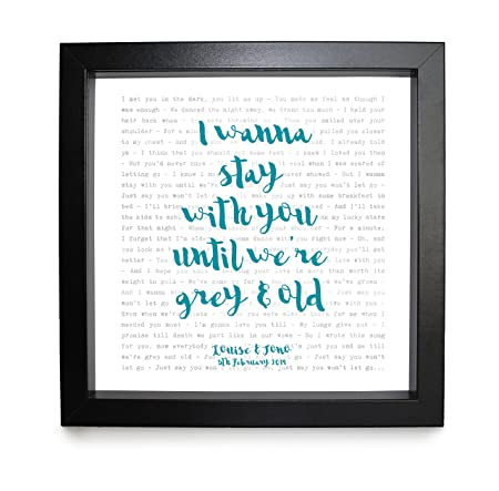 JAMES ARTHUR SAY YOU WON/'T LET GO Personalised song Words Typography Print Gift