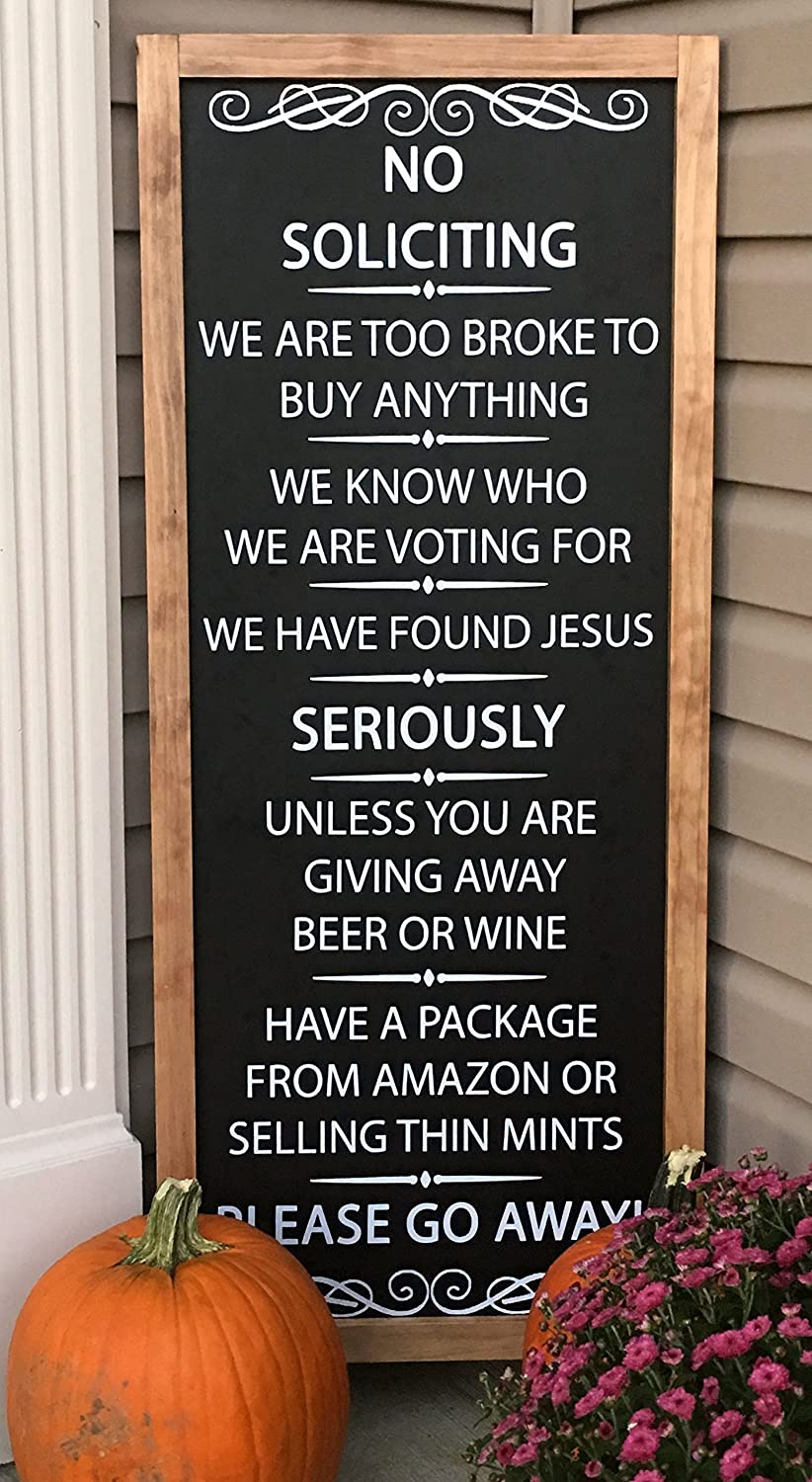 Chalkboard Sign - No Soliciting - Standing - A-Frame Sign - 48