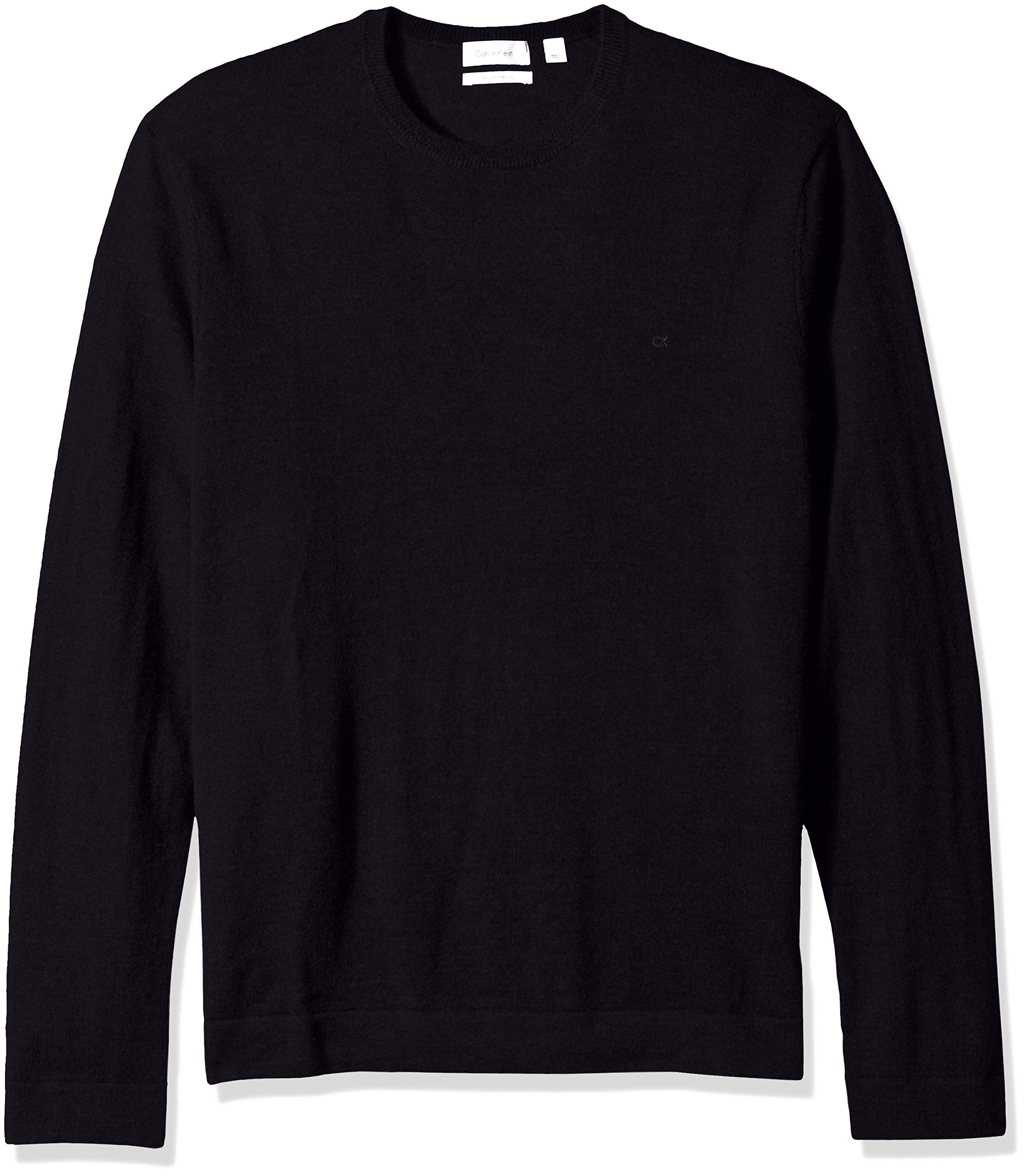 Calvin Klein Men's Merino Crew Neck Sweater, Roma, Medium
