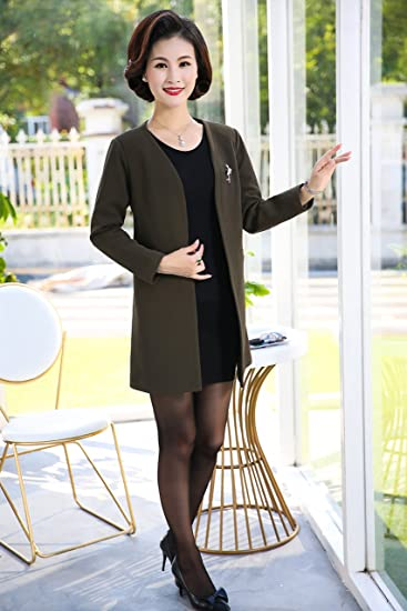 Amazon Com Mother Dress In Long Section Thin Cardigan Coat Autumn