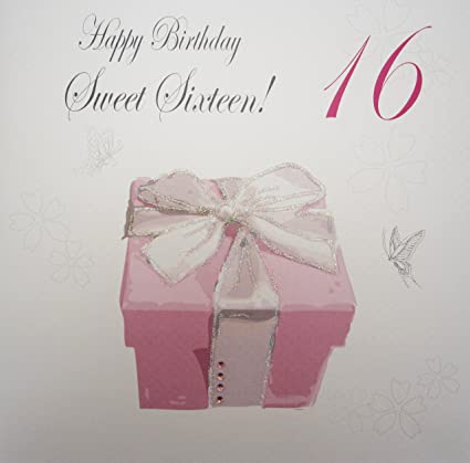 WHITE COTTON CARDS Happy Teenager Sweet Sixteen Handmade Large 16th Birthday Card Pink Present Amazoncouk Kitchen Home