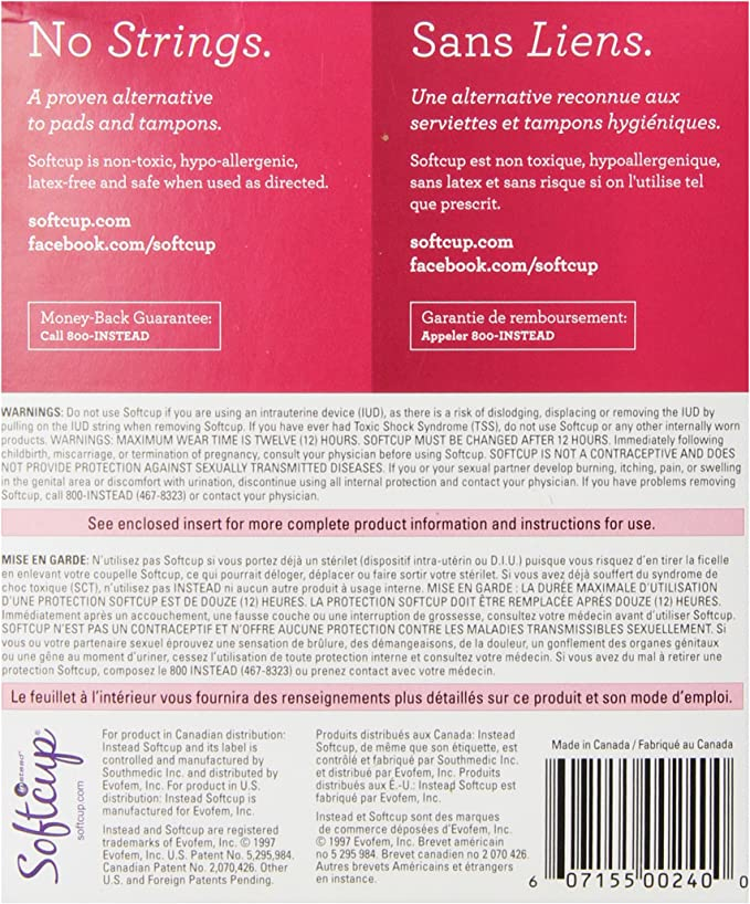 Instead Softcups - Pack of 24 Instead Softcups - Menstrual Cup