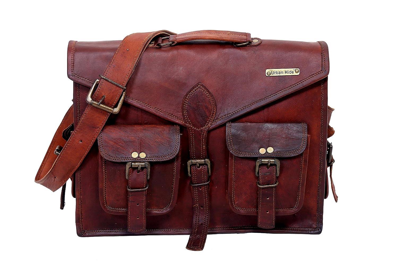 Sacchetto di spalla borsa del messaggero del messaggero di cuoio distinto dell'uomo di Handmade di Urbankrafted