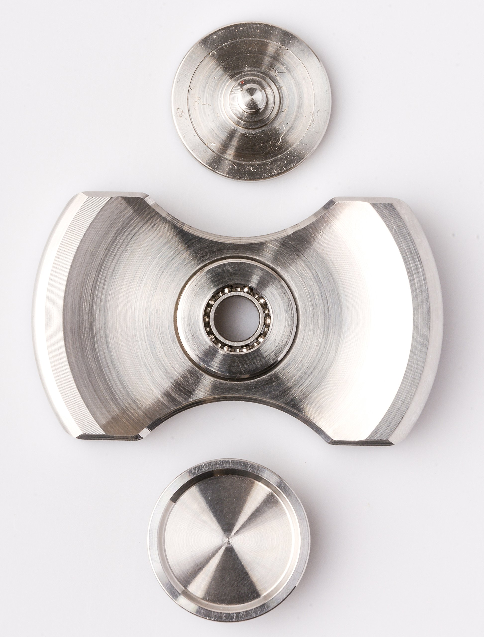 ILoveFidget Fidget Spinner, Best Stainless Steel Hand Spinner EDC Toy, R188 bearing spins up to 8 mins, relieve stress ADHD ADD Austism anxiety boredom, improve focus attention (Double Bar) by ILoveFidget (Image #4)