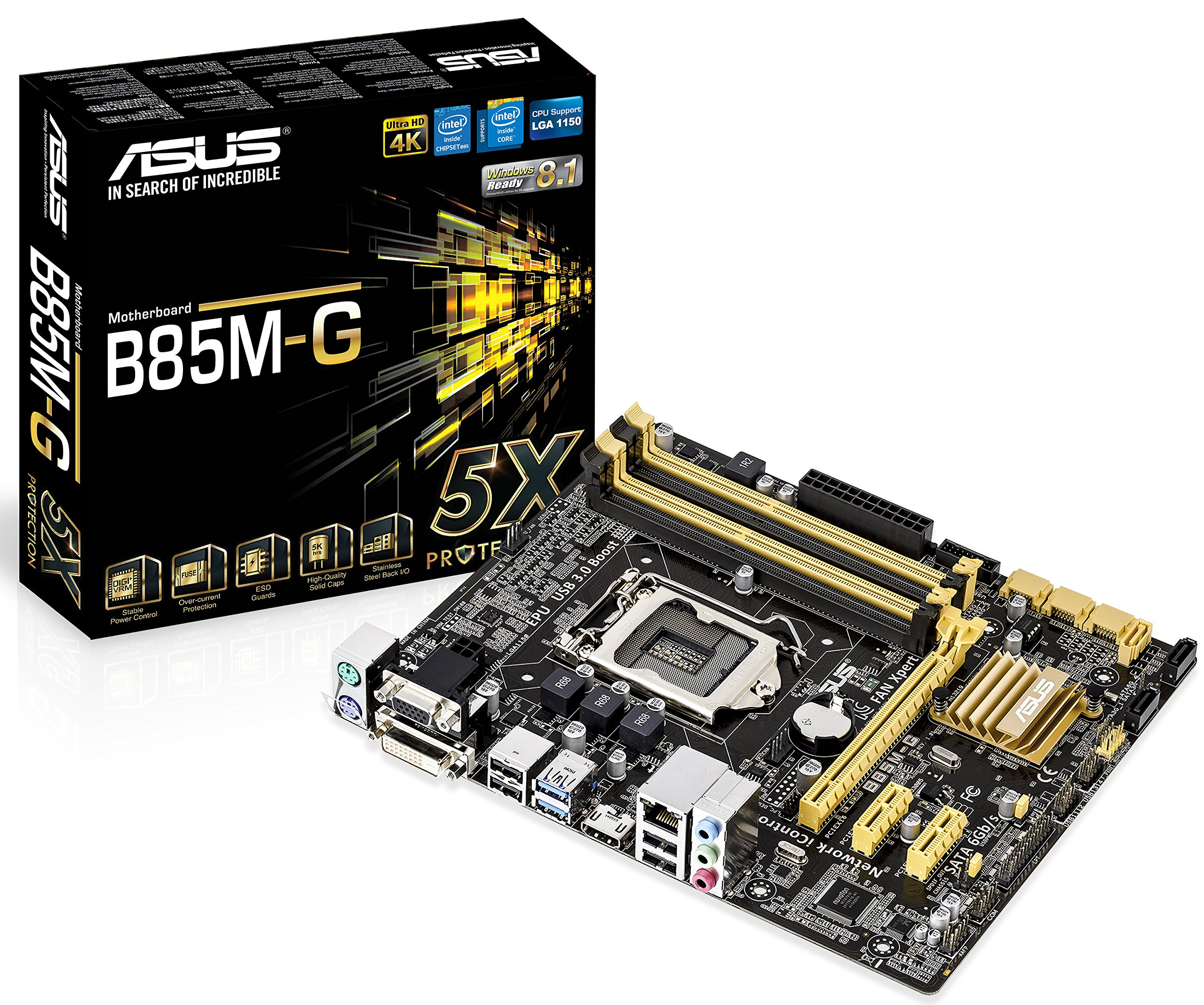 ASUS Micro ATX DDR3 1600 LGA 1150 Motherboard B85M-G by ASUS