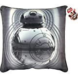 Star Wars Ep 8 BB-8 Gray Plush Decorative Toss/Throw Pillow