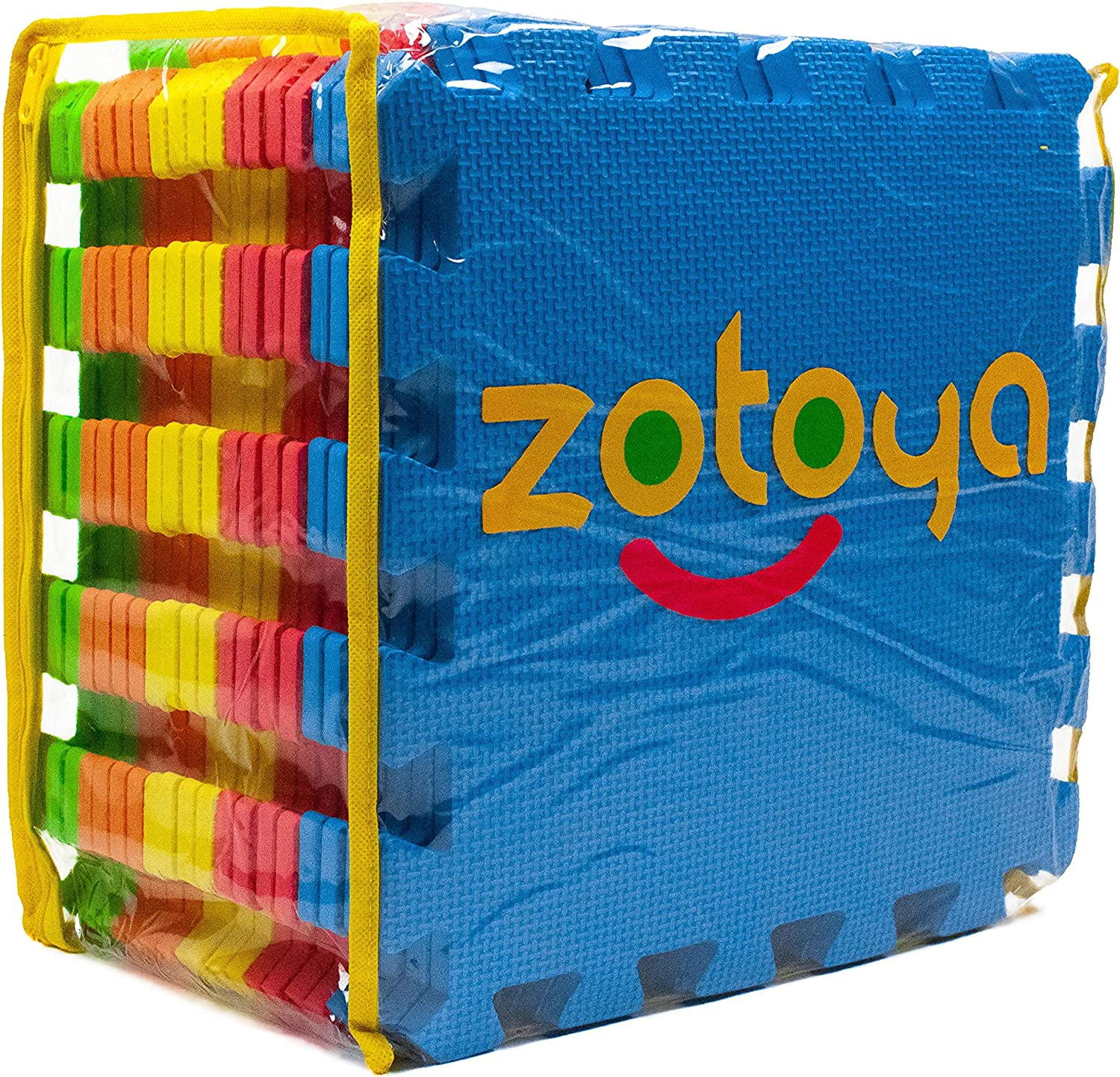 Zotoya EVA Foam Soft Play MatMulti-Colour 20 Piece Set with Carry Bag
